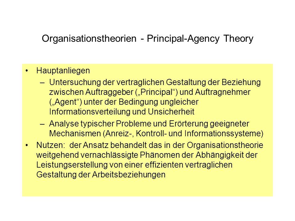 Organisationstheorien - Principal-Agency Theory