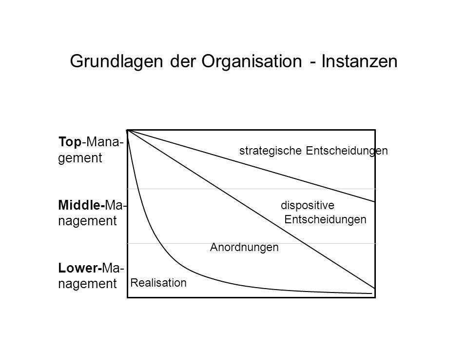 Grundlagen der Organisation - Instanzen