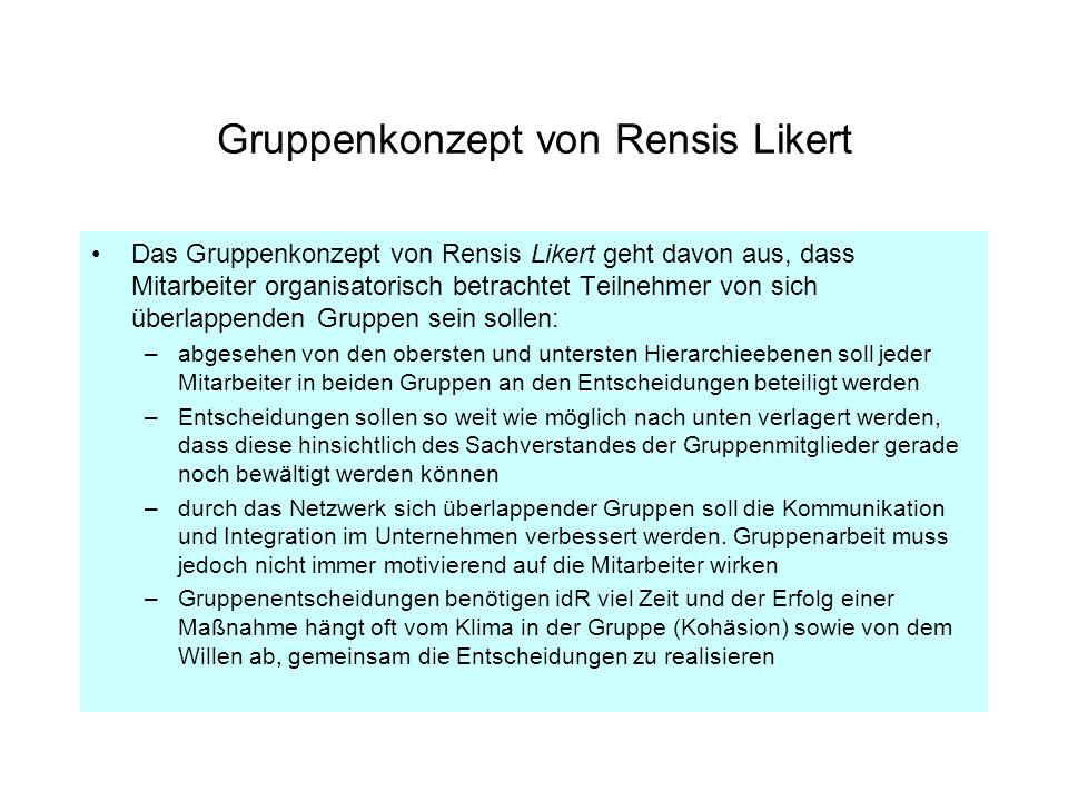 Gruppenkonzept von Rensis Likert