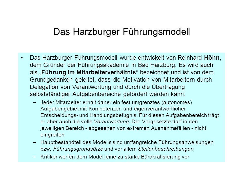 Das Harzburger Führungsmodell