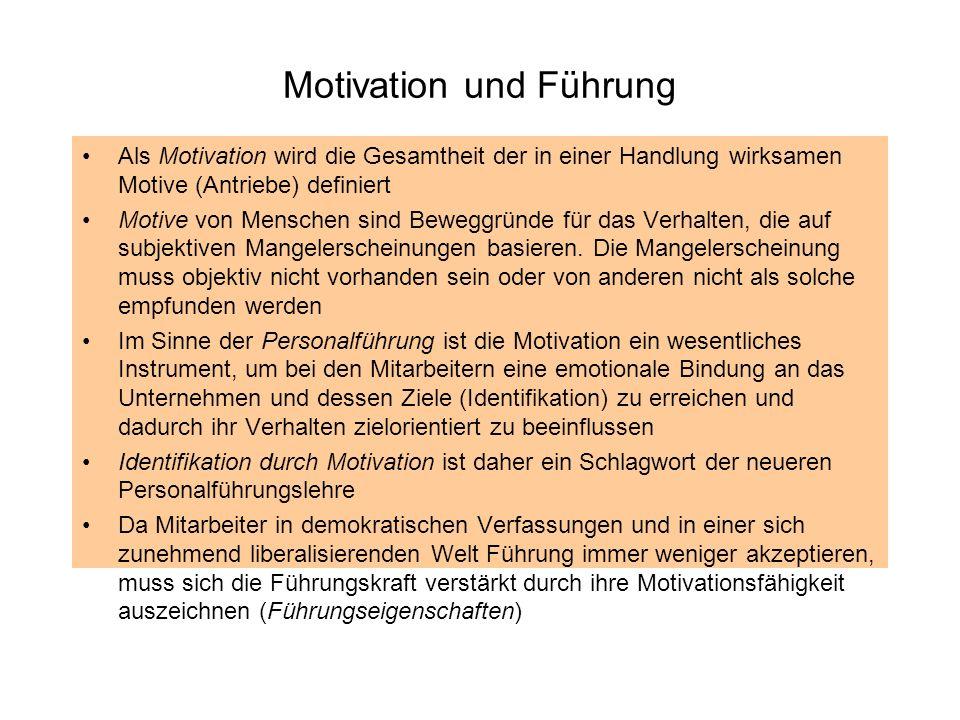 Motivation und Führung