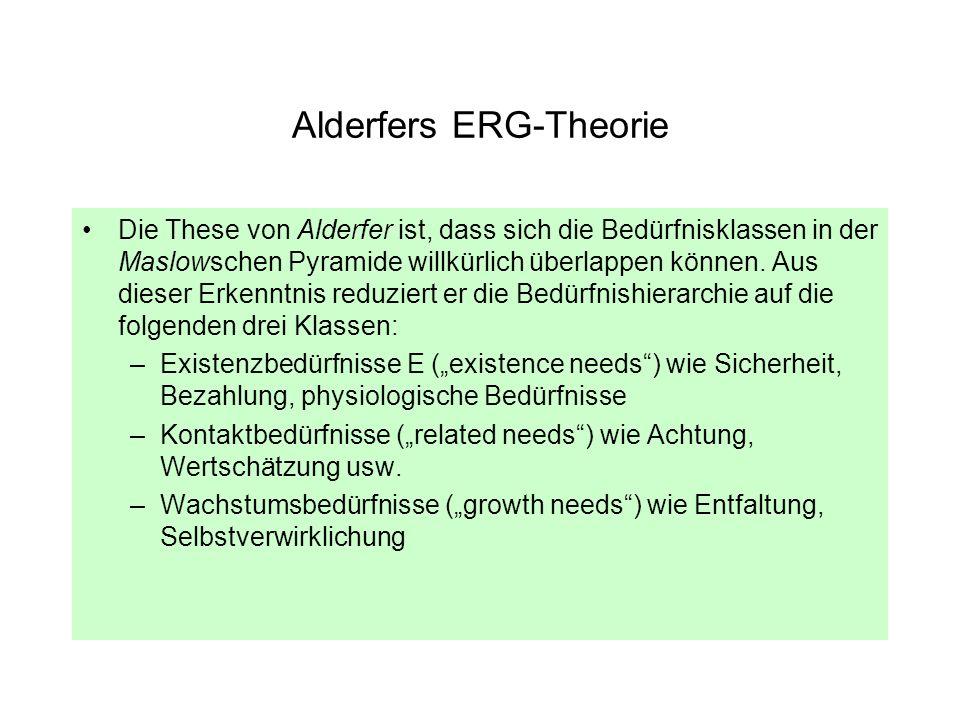 Alderfers ERG-Theorie
