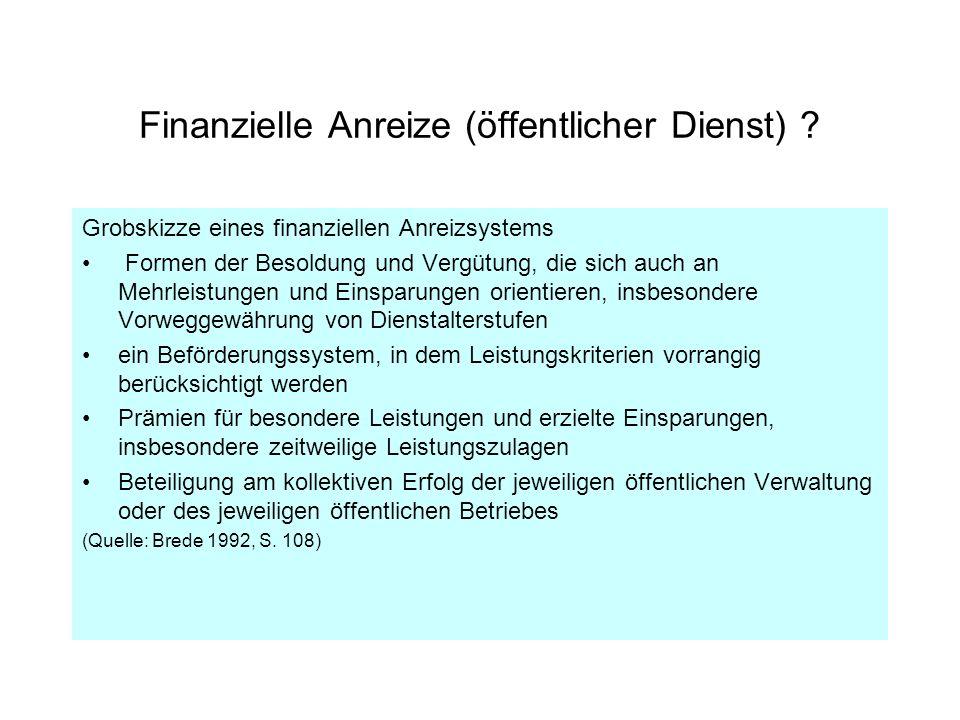 Finanzielle Anreize (öffentlicher Dienst)