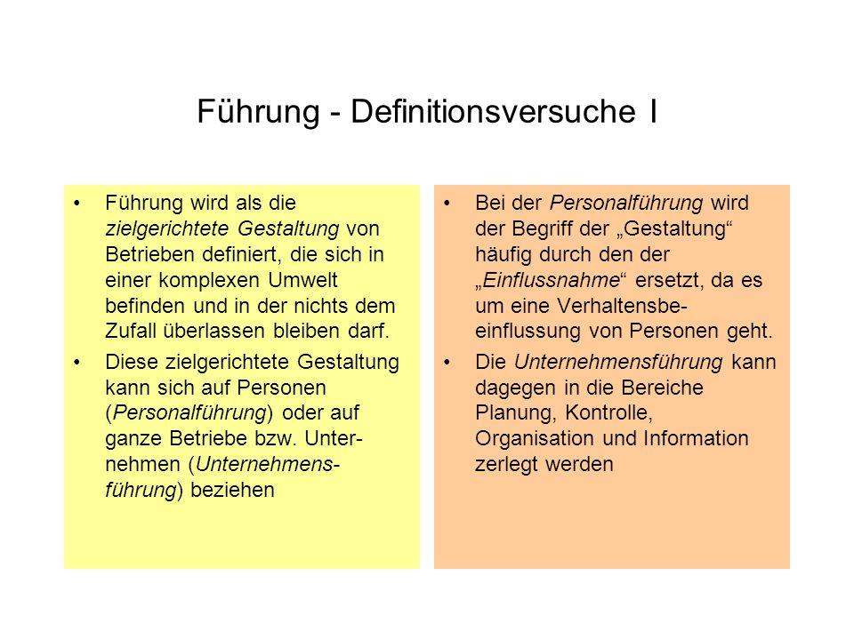 Führung - Definitionsversuche I