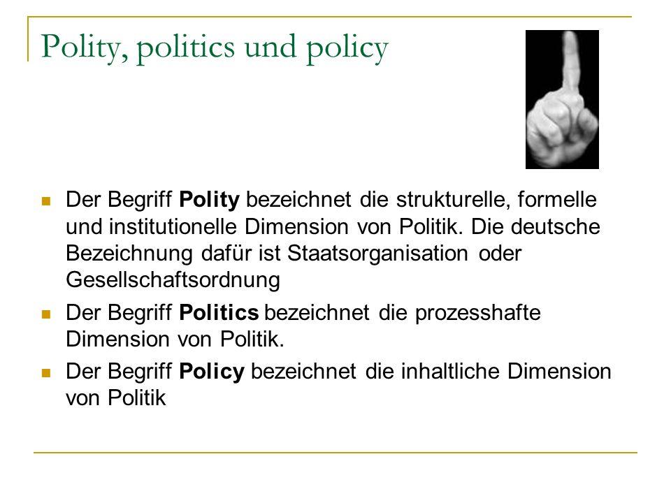 Polity, politics und policy