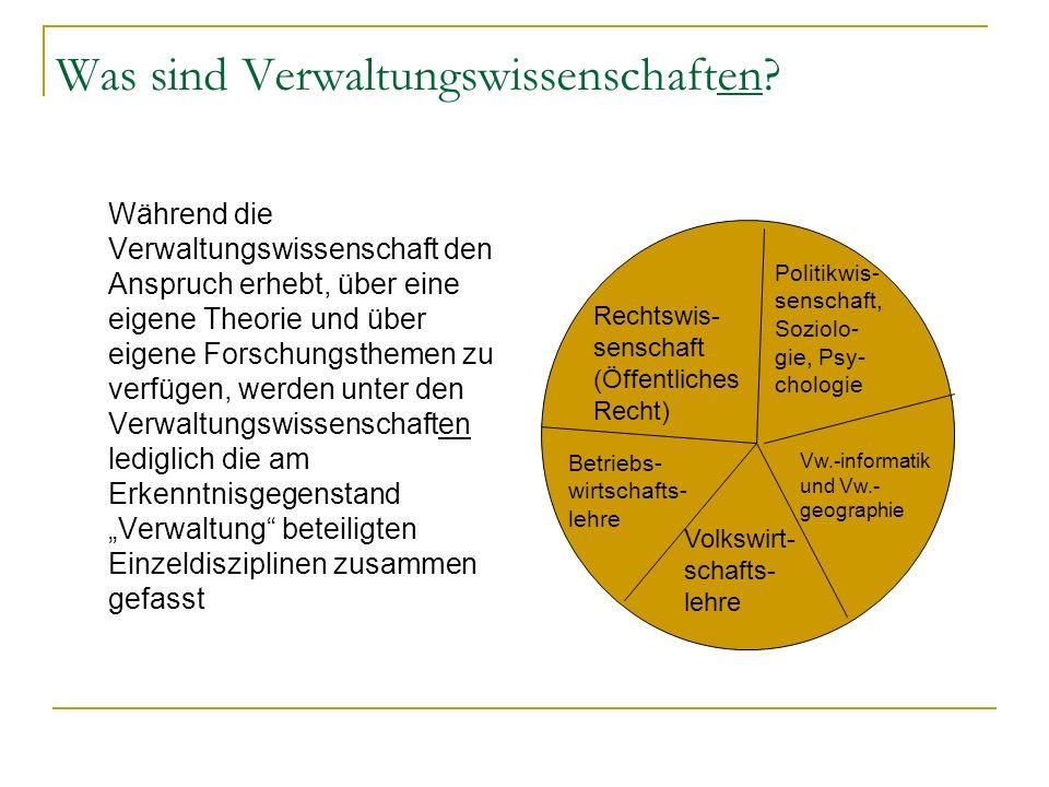 Was sind Verwaltungswissenschaften