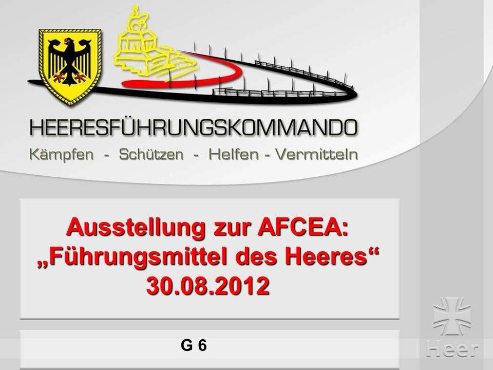 """Ausstellung zur AFCEA: """"Führungsmittel des Heeres 30.08.2012"""