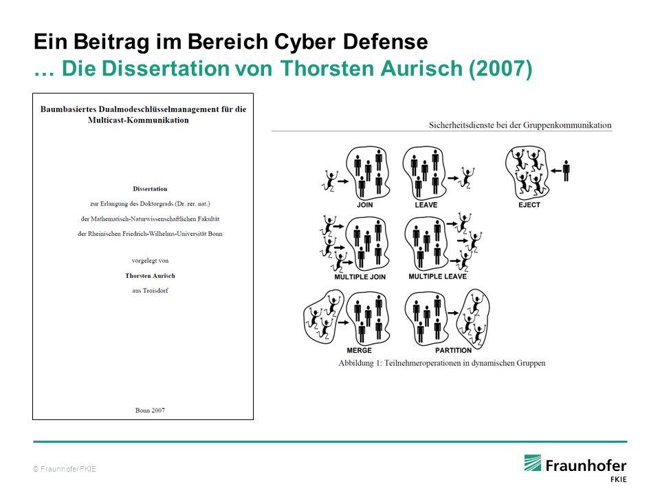 Ein Beitrag im Bereich Cyber Defense … Die Dissertation von Thorsten Aurisch (2007)