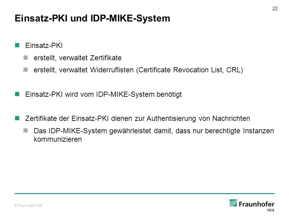 Einsatz-PKI und IDP-MIKE-System