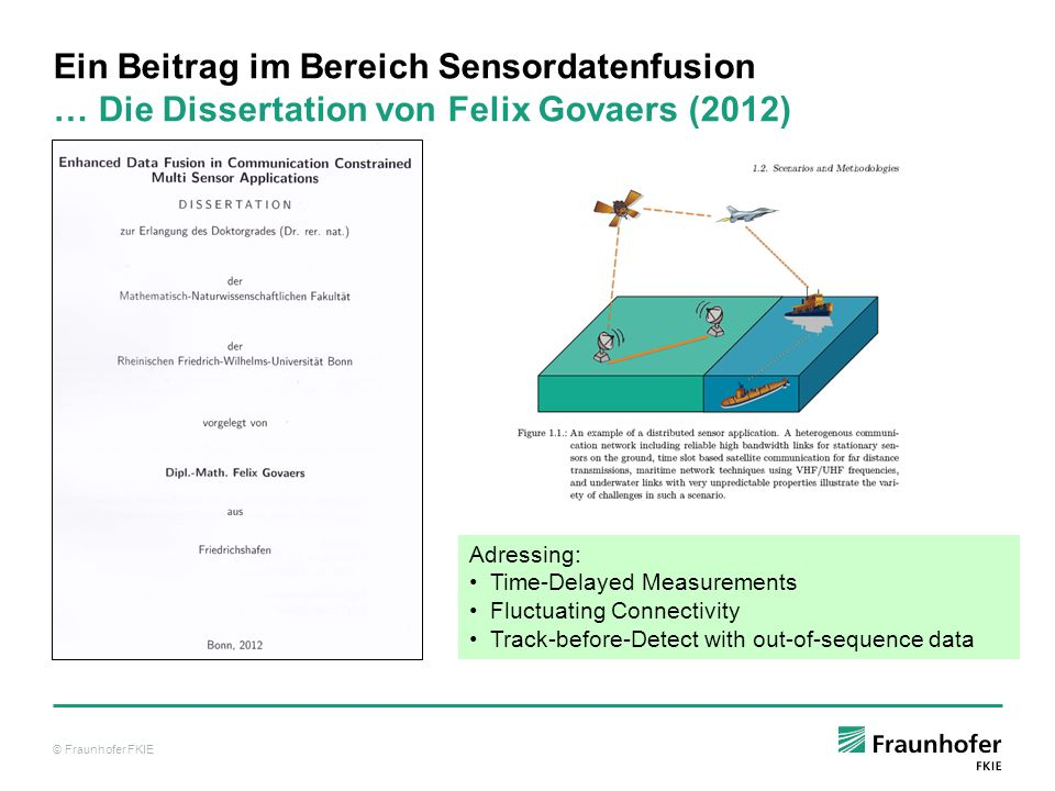Ein Beitrag im Bereich Sensordatenfusion … Die Dissertation von Felix Govaers (2012)