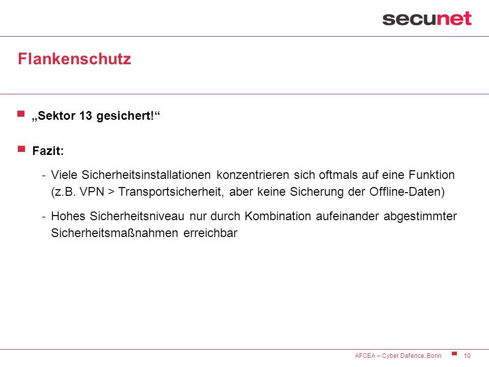 "Flankenschutz ""Sektor 13 gesichert! Fazit:"