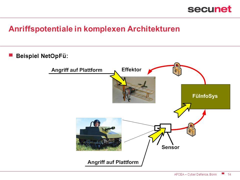 Anriffspotentiale in komplexen Architekturen