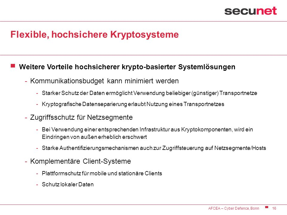 Flexible, hochsichere Kryptosysteme