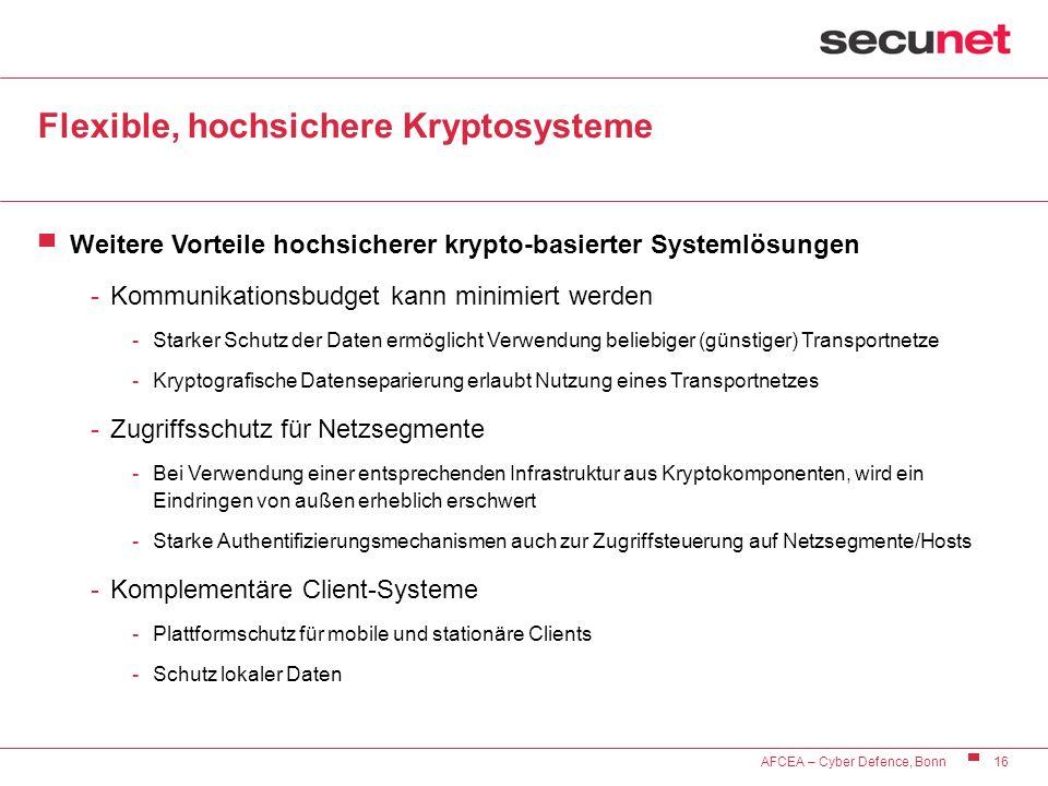 Flexible, hochsichere Kryptosysteme
