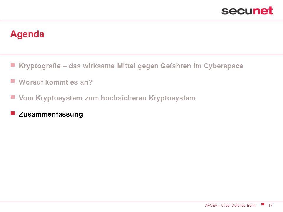 Agenda Kryptografie – das wirksame Mittel gegen Gefahren im Cyberspace