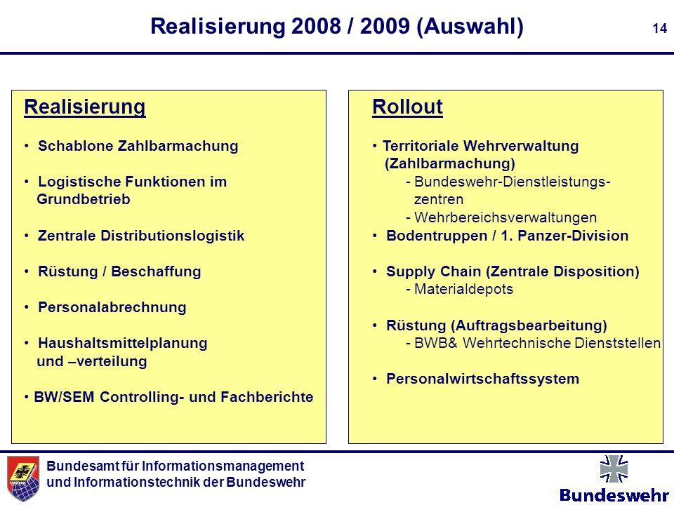 Realisierung 2008 / 2009 (Auswahl)