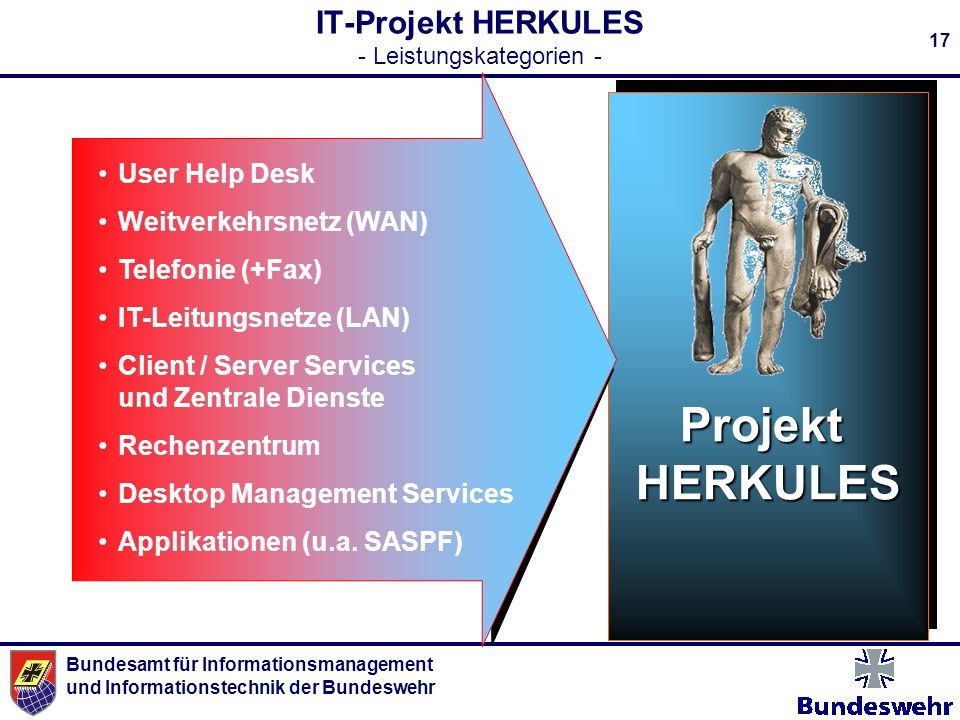 IT-Projekt HERKULES - Leistungskategorien -
