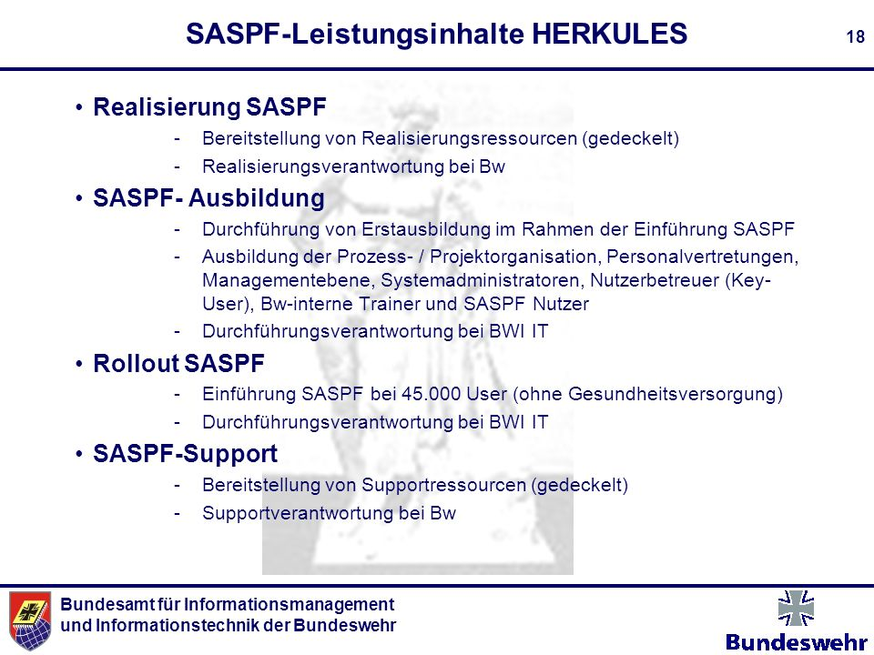 SASPF-Leistungsinhalte HERKULES