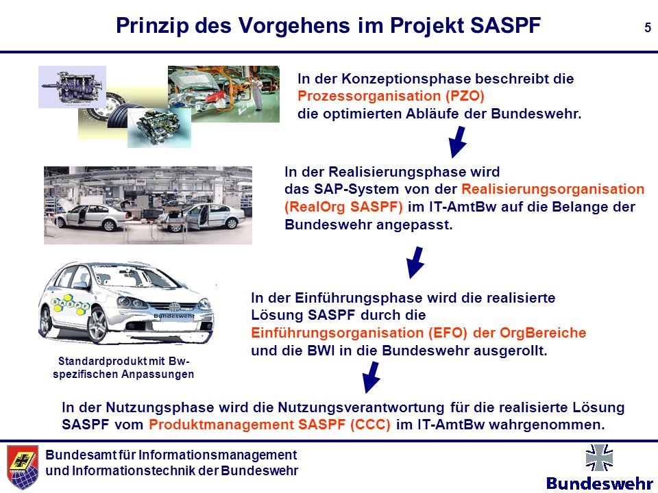 Prinzip des Vorgehens im Projekt SASPF