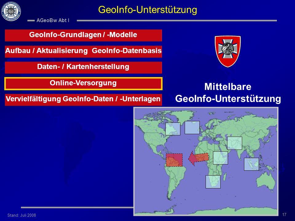 Mittelbare GeoInfo-Unterstützung