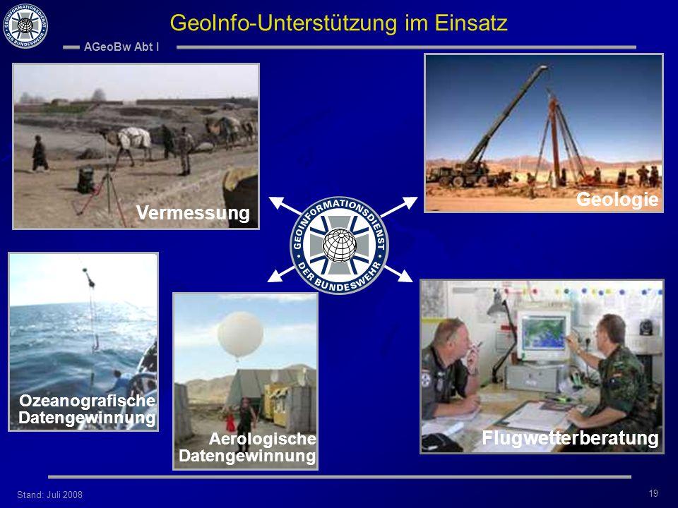 GeoInfo-Unterstützung im Einsatz