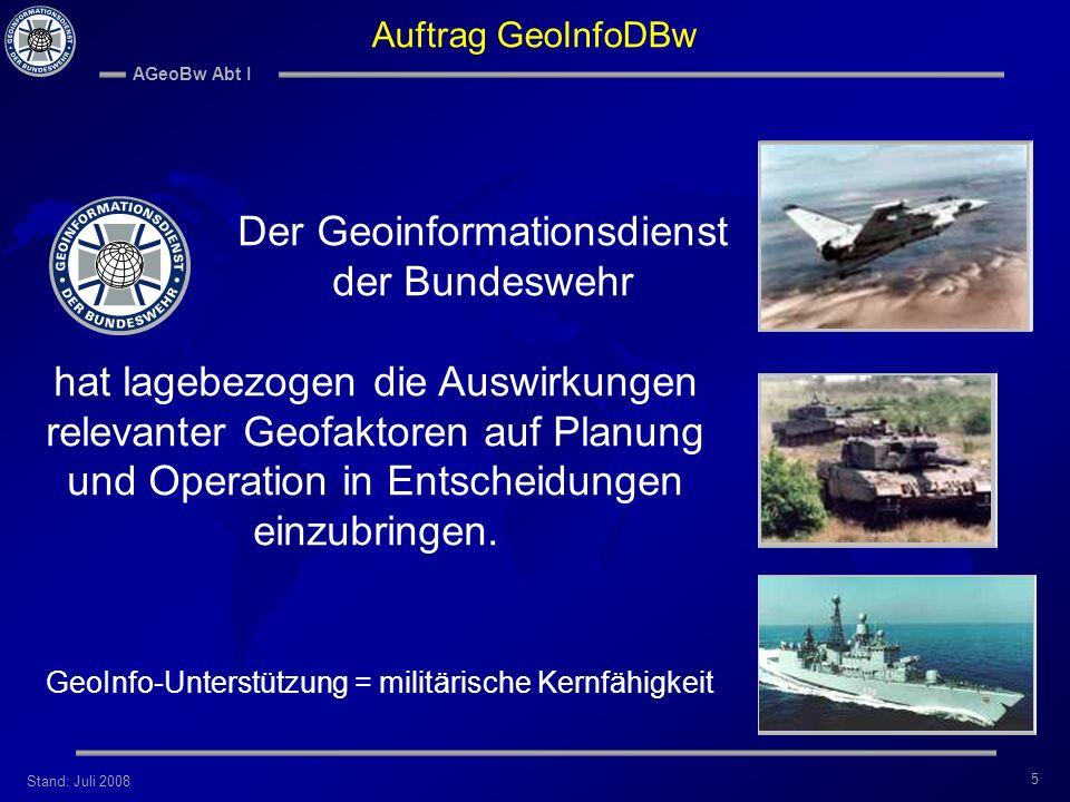 Der Geoinformationsdienst der Bundeswehr