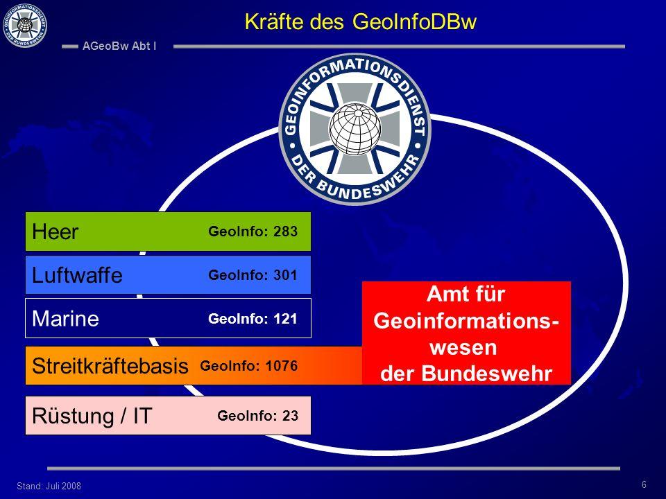 Amt für Geoinformations- wesen der Bundeswehr