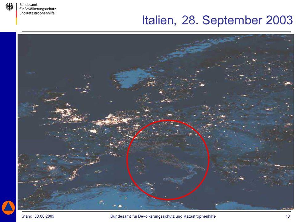 Italien, 28. September 2003