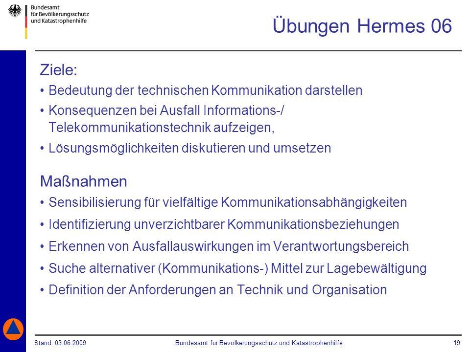 Übungen Hermes 06 Ziele: Maßnahmen