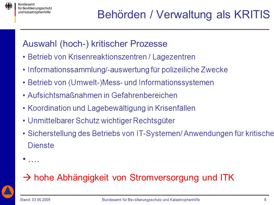 Behörden / Verwaltung als KRITIS