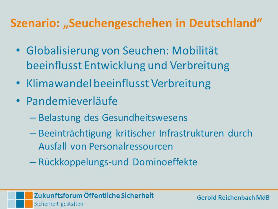 """Szenario: """"Seuchengeschehen in Deutschland"""