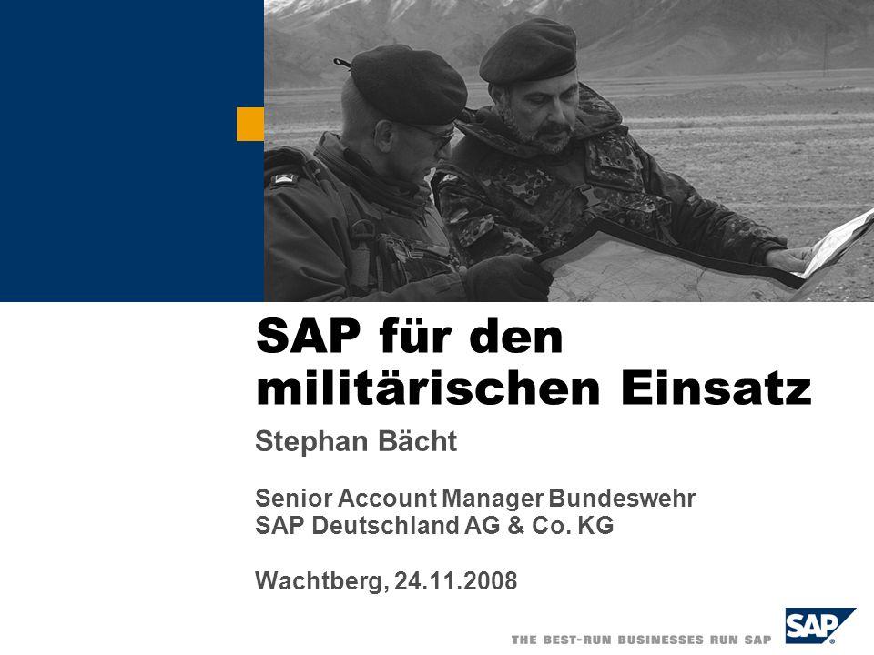 SAP für den militärischen Einsatz