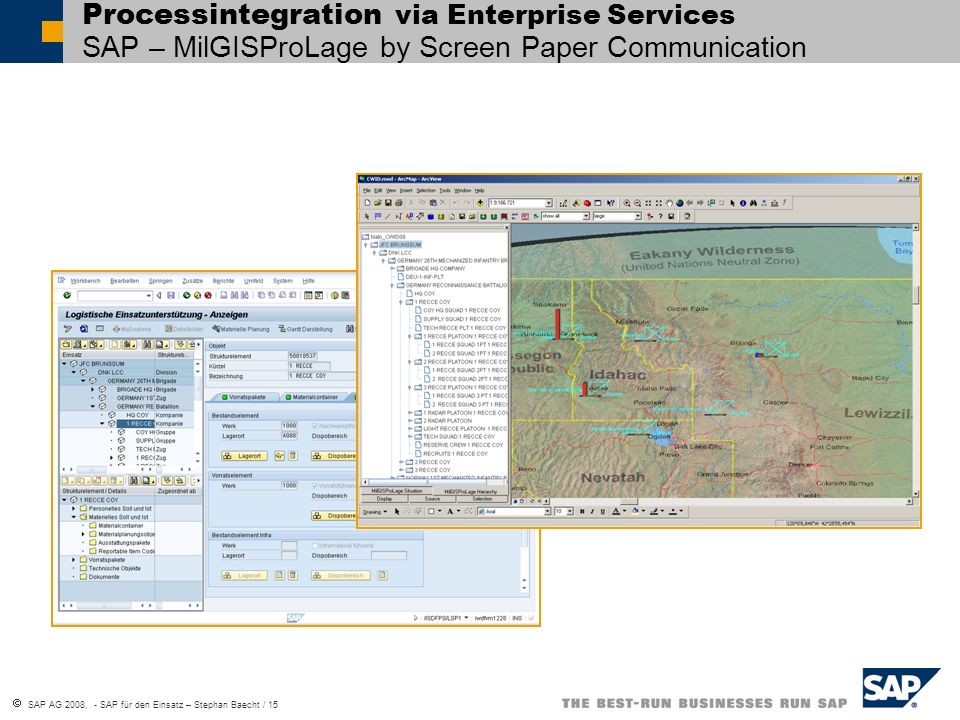 Processintegration via Enterprise Services SAP – MilGISProLage by Screen Paper Communication