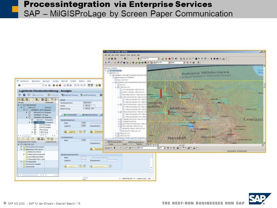 Processintegration via Enterprise Services SAP – MilGISProLage by Screen Paper Communication
