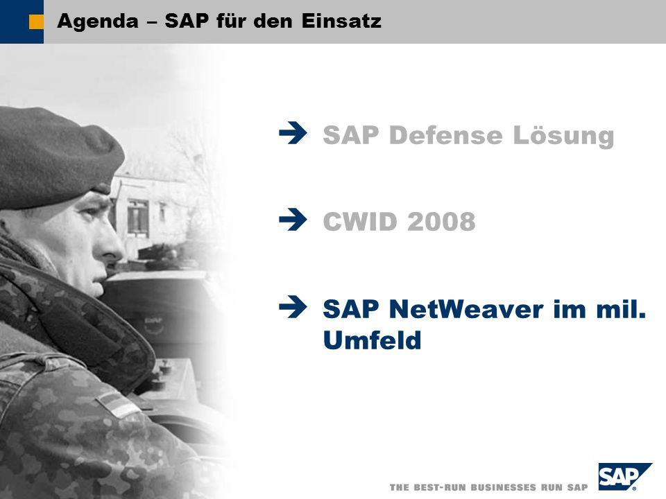 Agenda – SAP für den Einsatz