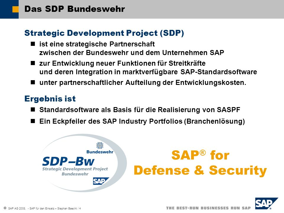 SAP® for Defense & Security