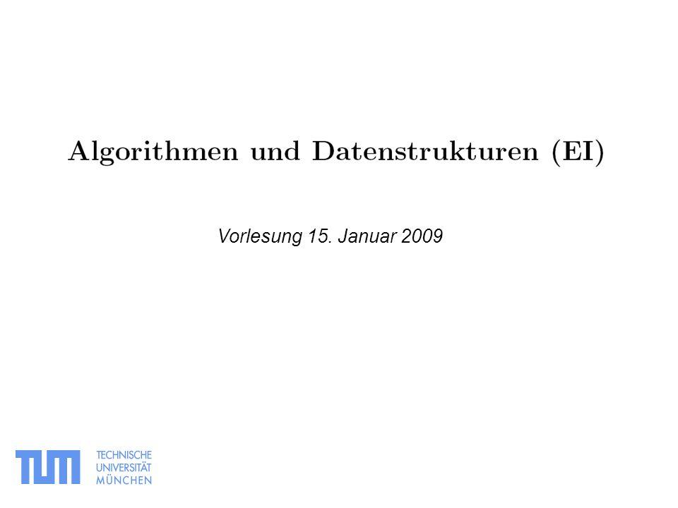 Vorlesung 15. Januar 2009