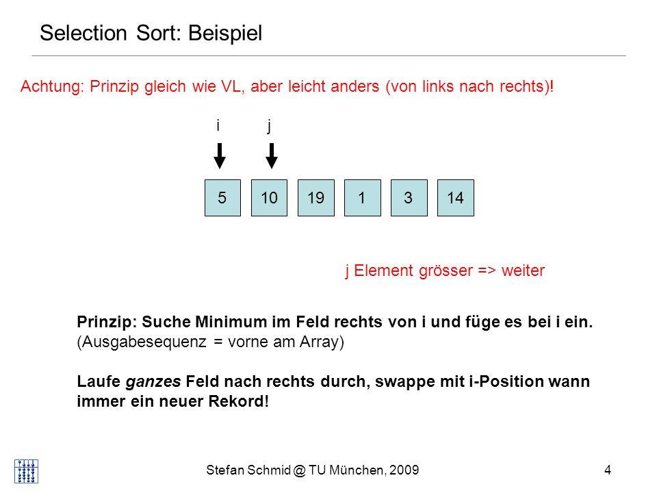 Selection Sort: Beispiel