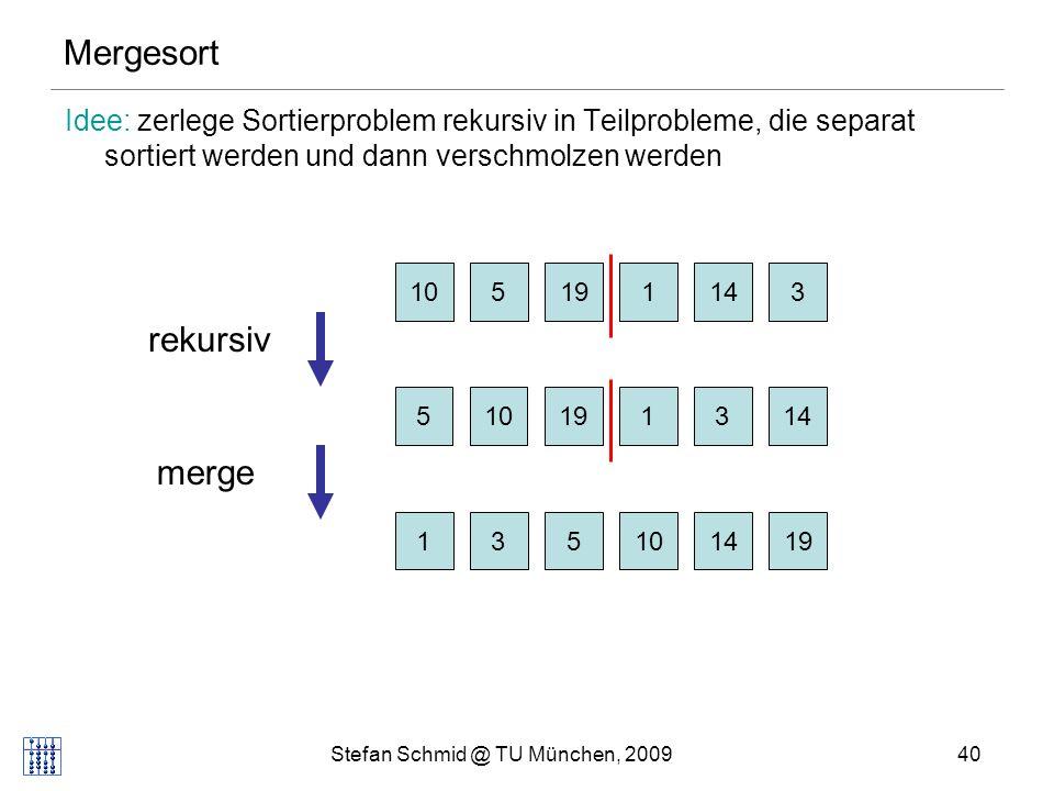 Stefan Schmid @ TU München, 2009