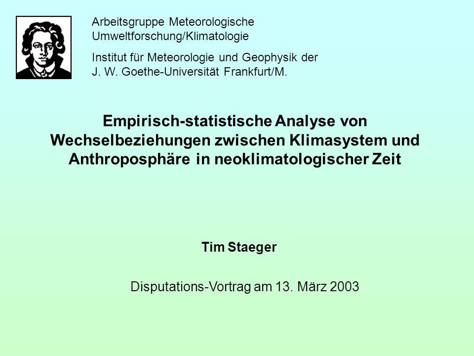Disputations-Vortrag am 13. März 2003