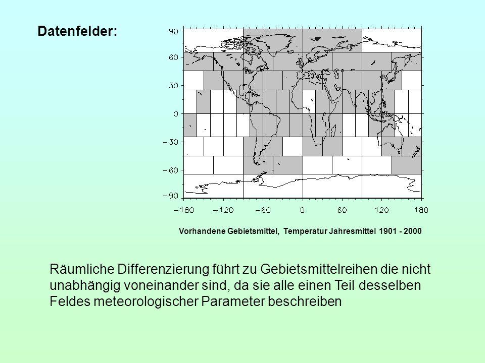 Datenfelder: Vorhandene Gebietsmittel, Temperatur Jahresmittel 1901 - 2000.