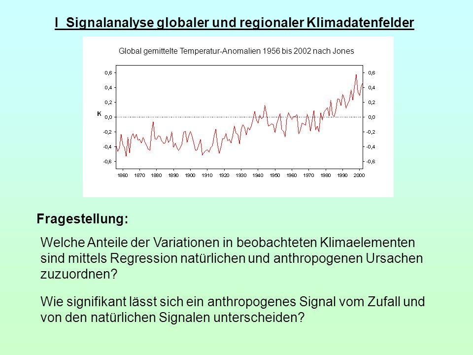 I Signalanalyse globaler und regionaler Klimadatenfelder