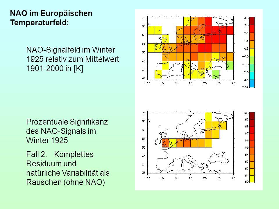 NAO im Europäischen Temperaturfeld: