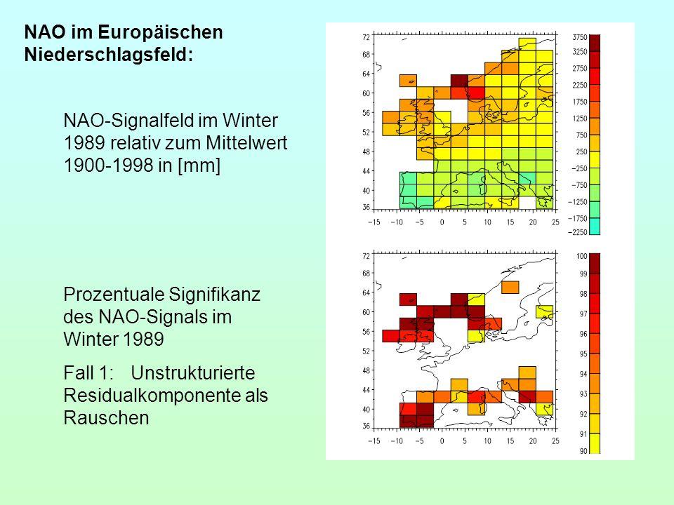 NAO im Europäischen Niederschlagsfeld: