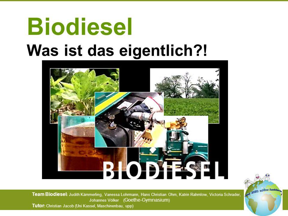 Biodiesel Was ist das eigentlich !