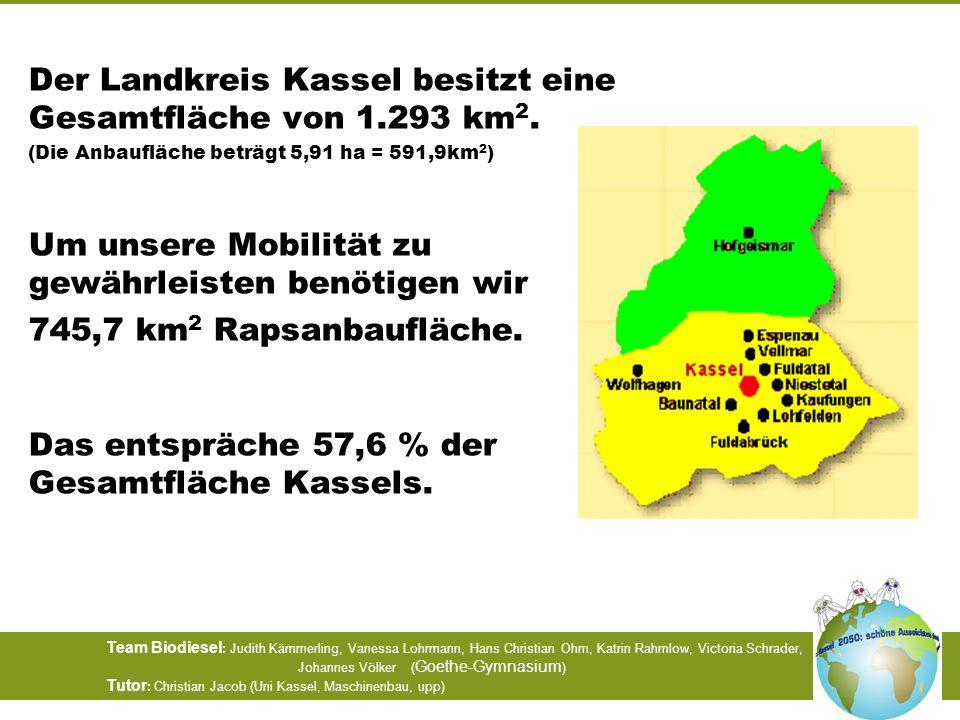 Der Landkreis Kassel besitzt eine Gesamtfläche von 1.293 km2.
