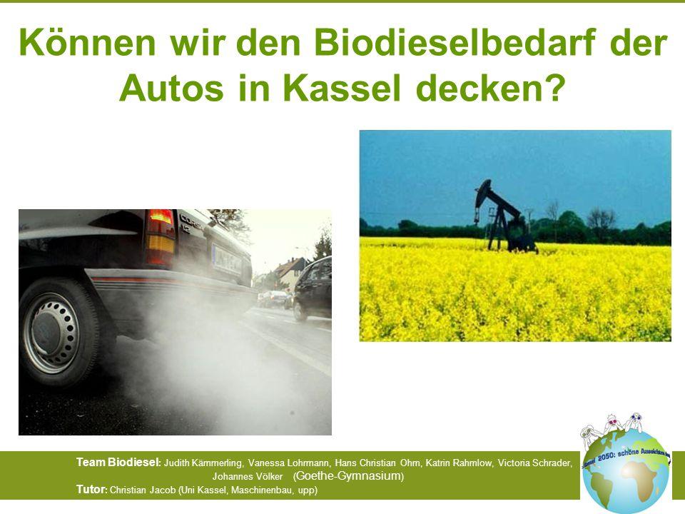 Können wir den Biodieselbedarf der Autos in Kassel decken