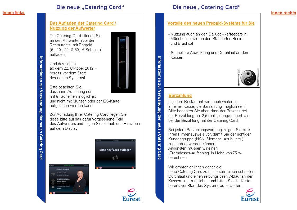"Die neue ""Catering Card Die neue ""Catering Card"