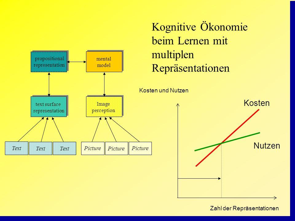 Kognitive Ökonomie beim Lernen mit multiplen Repräsentationen