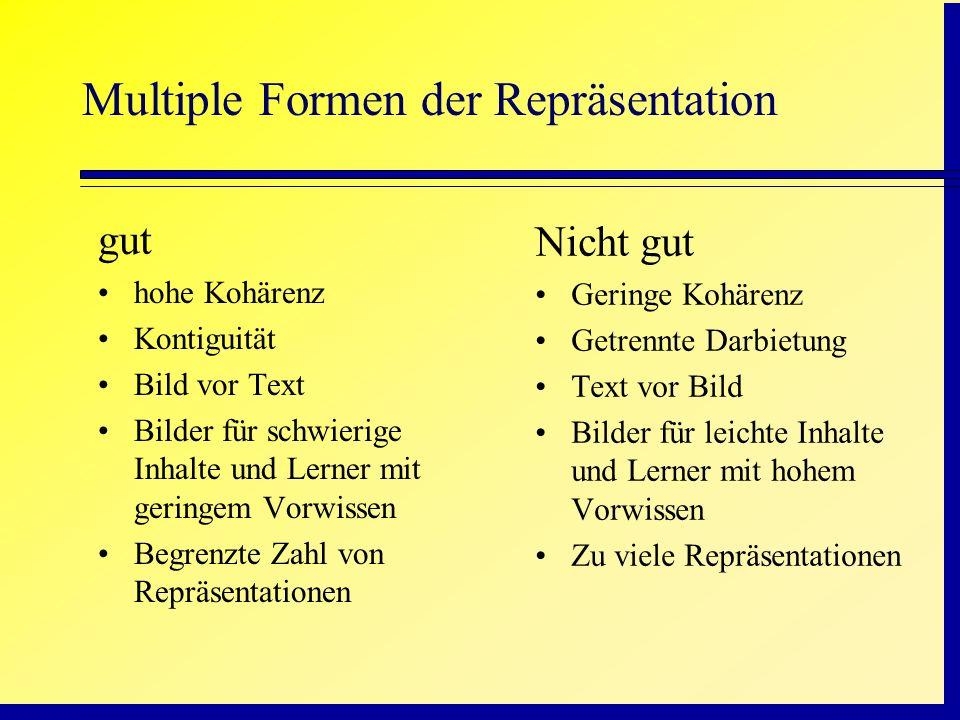 Multiple Formen der Repräsentation